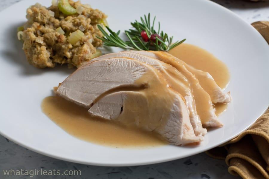 plated turkey