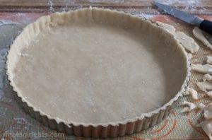 tart crust for hazelnut tart