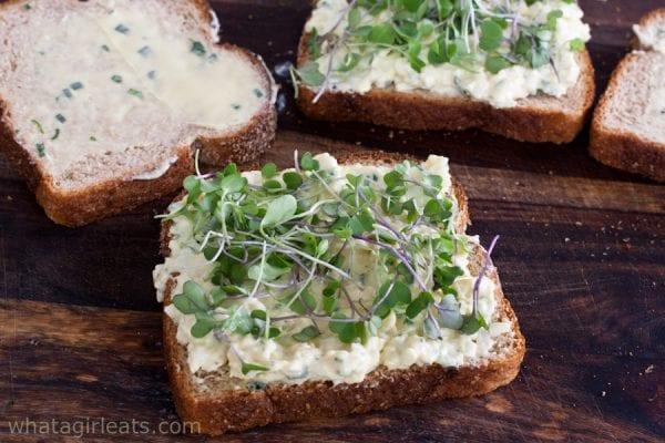 Egg salad on bread