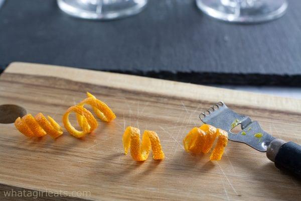 orange garnish