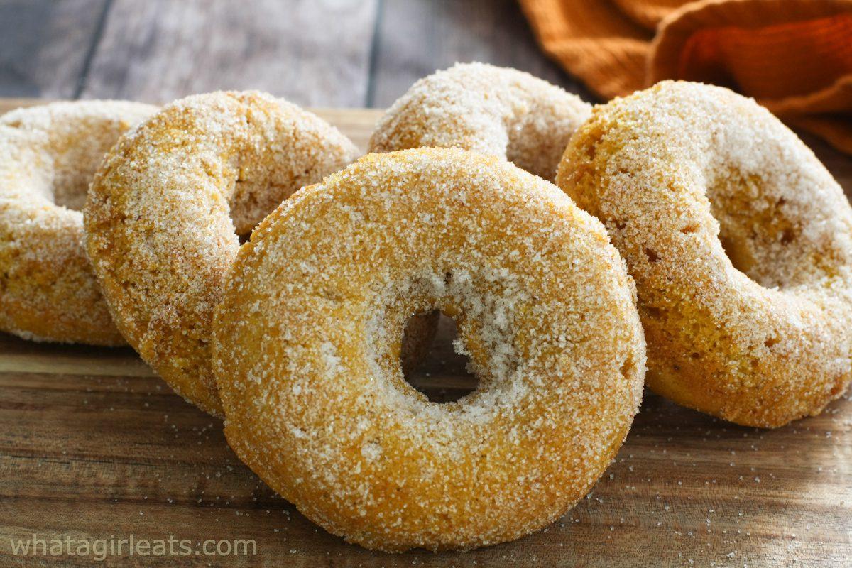 pumpkin spice  gluten free donuts