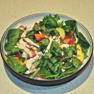 thai coconut poached chicken salad