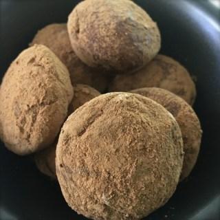 fudgy chocolate protein balls (raw, nut, coconut, dairy & gluten free)