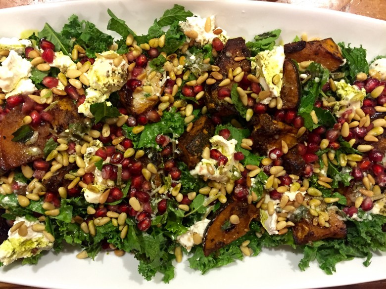 roasted pumpkin & persian feta salad