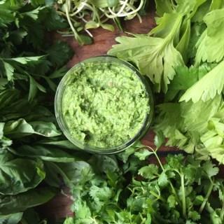 Celery leaf pesto