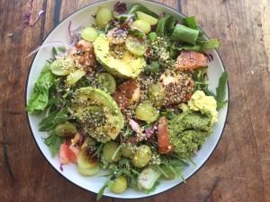 avocado grape salad