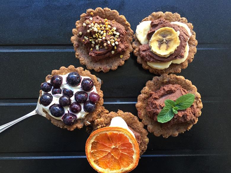 chocolate marscapone tarts