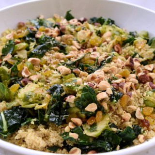 Winter Quinoa Salad  + Honey-Lemon Vinaigrette