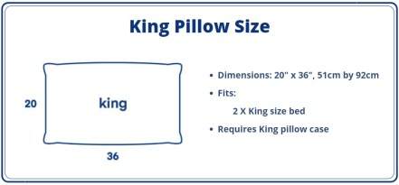 King Pillow Size Dimensions