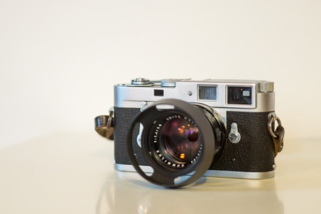 Vintage Leica M2 camera with summilux 1.4/50mm lens