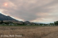 One of the active blazes in the Methow Valley, when this photo was taken on Aug. 6.