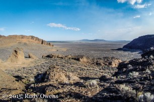 Inside the Fort Rock Crater