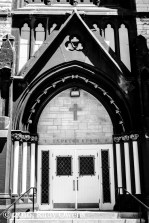 Entrance to Saints Peter and Paul Church, in St. Louis, Missouri