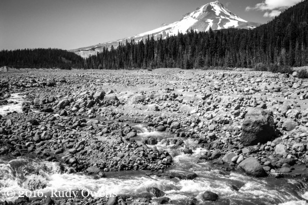 A Glacier Recedes and the White River, Mt. Hood