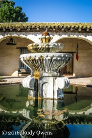 Fountain, San Miguel Mission