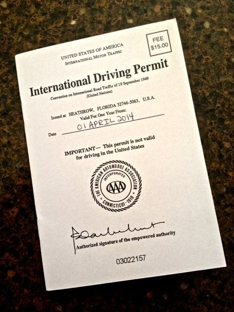 Our International Driving Permit - Playing it safe!