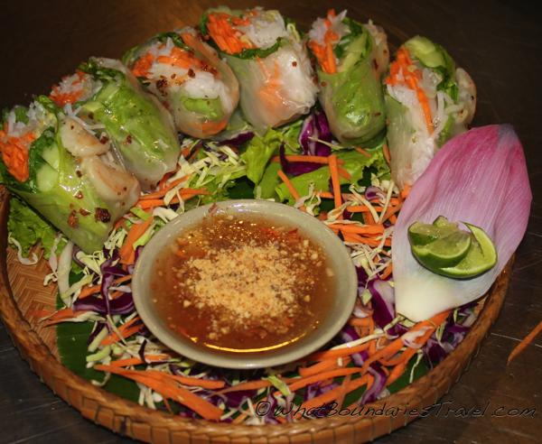 First Course Spring Rolls