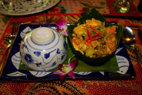 Second Course Khmer Amok Fish
