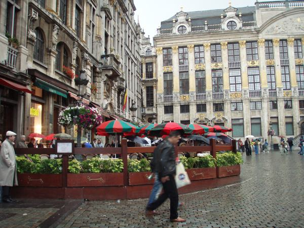 One of Many Grand Place Cafes in Brussels