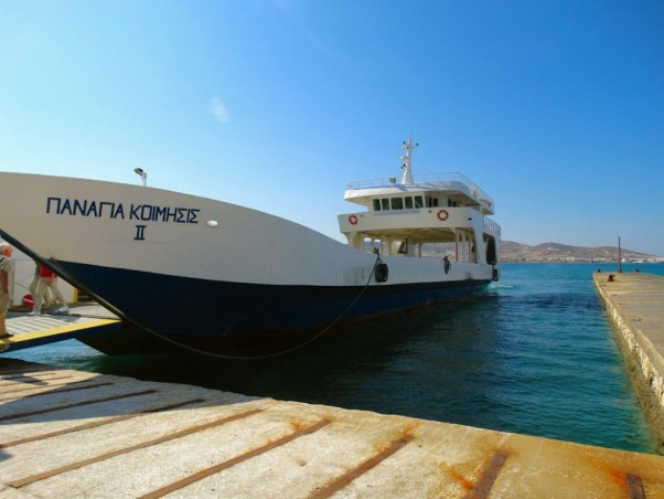 The ferry arrives!