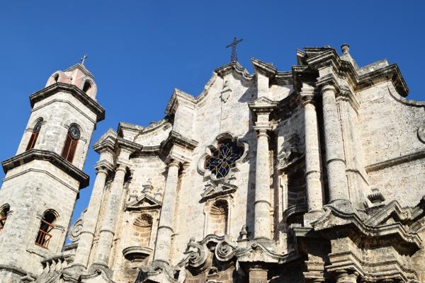 Cuba is history! Legend says the remains of Christopher Columbus were kept at the Havana Cathedral until 1898