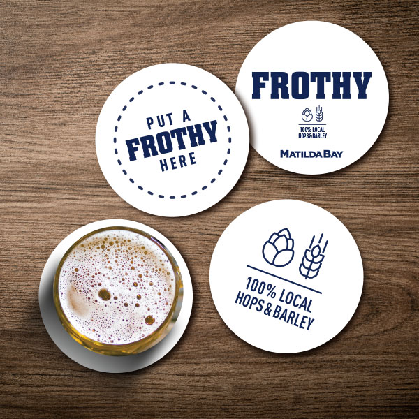 Frothy coaster