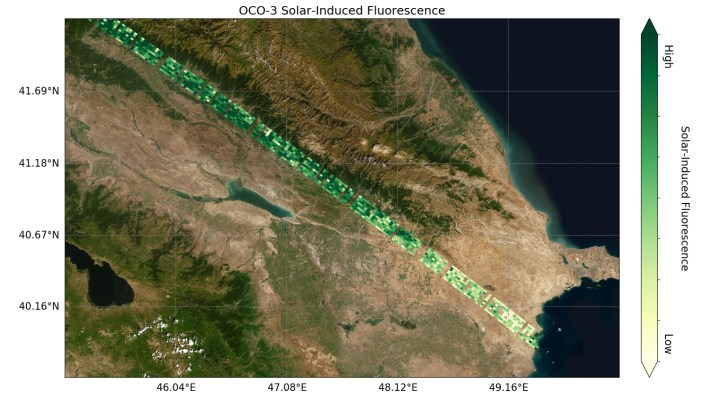 first data from nasas oco 3 mission co2 i see you - First Data from NASA's OCO-3 Mission: 'CO2, I See You'