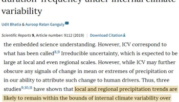 natural variability domination defying models scientists find less extreme precipitation in recent decades - New Study: 100-Year Flood Events Are Globally Decreasing In Frequency And Probability Since 1970