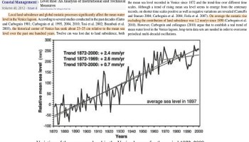 co2 levels are not whats threatening venicesea levels were meters higher with much lower co2 - Increasement in CO2 emission