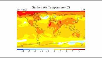 climate simulation of surface air temperature - Global temperature anomalies from 1880 to 2018
