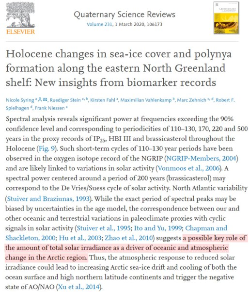 new study greenland was 4 5 c warmer than today 9000 years agowhen the arctic was nearly sea ice free 1 - New Study: Greenland Was '4–5 °C Warmer Than Today' ~9000 Years Ago…When The Arctic Was Nearly Sea-Ice Free