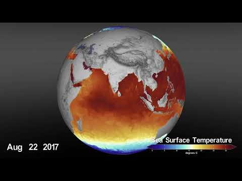 sea surface temperature sst from january 2016 through march 2020 - Sea Surface Temperature (SST) from January 2016 through March 2020