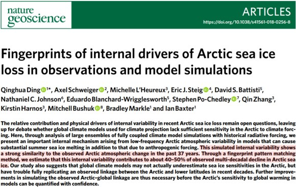 new study 75 of recent arctic sea ice decline is accounted for by an internal variability pattern pna 4 - New Study: 75% Of Recent Arctic Sea Ice Decline Is 'Accounted For' By An Internal Variability Pattern (PNA)