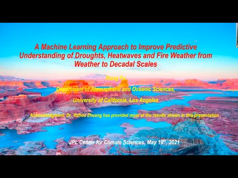 "a machine learning approach toward a seamless understanding droughts heatwaves and fire weather - A Machine Learning Approach Toward a ""Seamless"" Understanding Droughts, Heatwaves and Fire Weather"