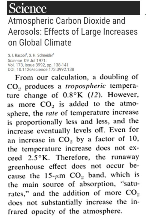 1970s 80s physics said doubling co2 produced just 0 2c 0 8c warming then physics changed 9 - 1970s-'80s 'Physics' Said Doubling CO2 Produced Just 0.2°C – 0.8°C Warming. Then 'Physics' Changed.