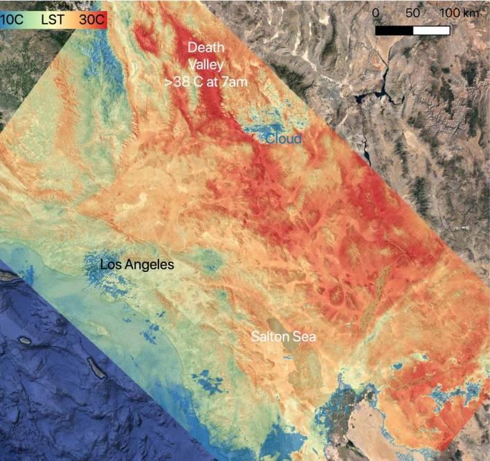 nasa tracks heat wave over us southwest - NASA Tracks Heat Wave Over US Southwest