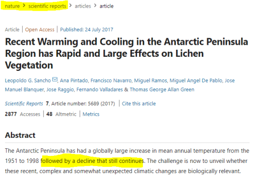 body of evidence all of antarctica is cooling peninsula cooling since long before greta was born 1 - Body Of Evidence: All Of Antarctica Is Cooling… Peninsula Cooling Since Long Before Greta Was Born
