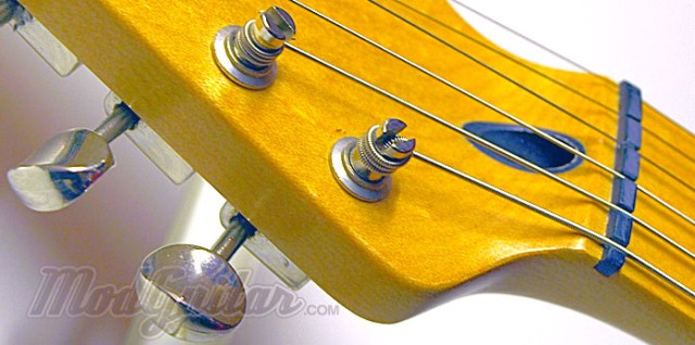 Traditional Klusen style tuners installed as a upgrade mod on a Standard Stratocaster.