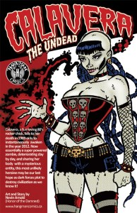 Calavera The Undead Issue 1 Back Cover Preview