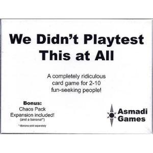 we didn't playtest