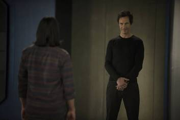 """The Flash -- """"The Trap"""" -- Image FLA120B_0445 -- Pictured (L-R): Carlos Valdes as Cisco Ramon and Tom Cavanagh as Harrison Wells -- Photo: Cate Cameron/The CW -- © 2015 The CW Network, LLC. All rights reserved"""