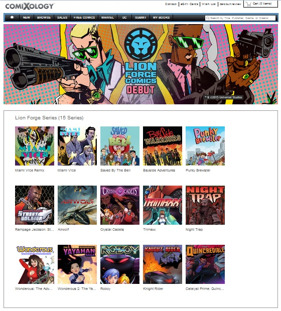 Lion Forge Comics Comes to Comixology!