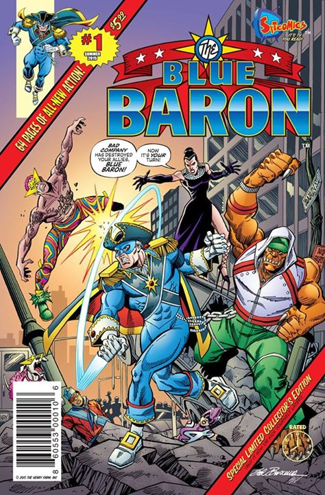 Sitcomics Blue Baron #1 - Super Heroics Meet Freaky Friday Antics!