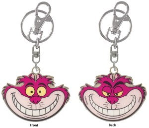 25451 Cheshire Cat Pewter Key Ring