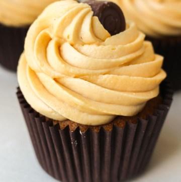 Caramel Cupcakes with Salted Caramel Buttercream