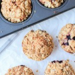 Blackberry Apple Crumble Muffins