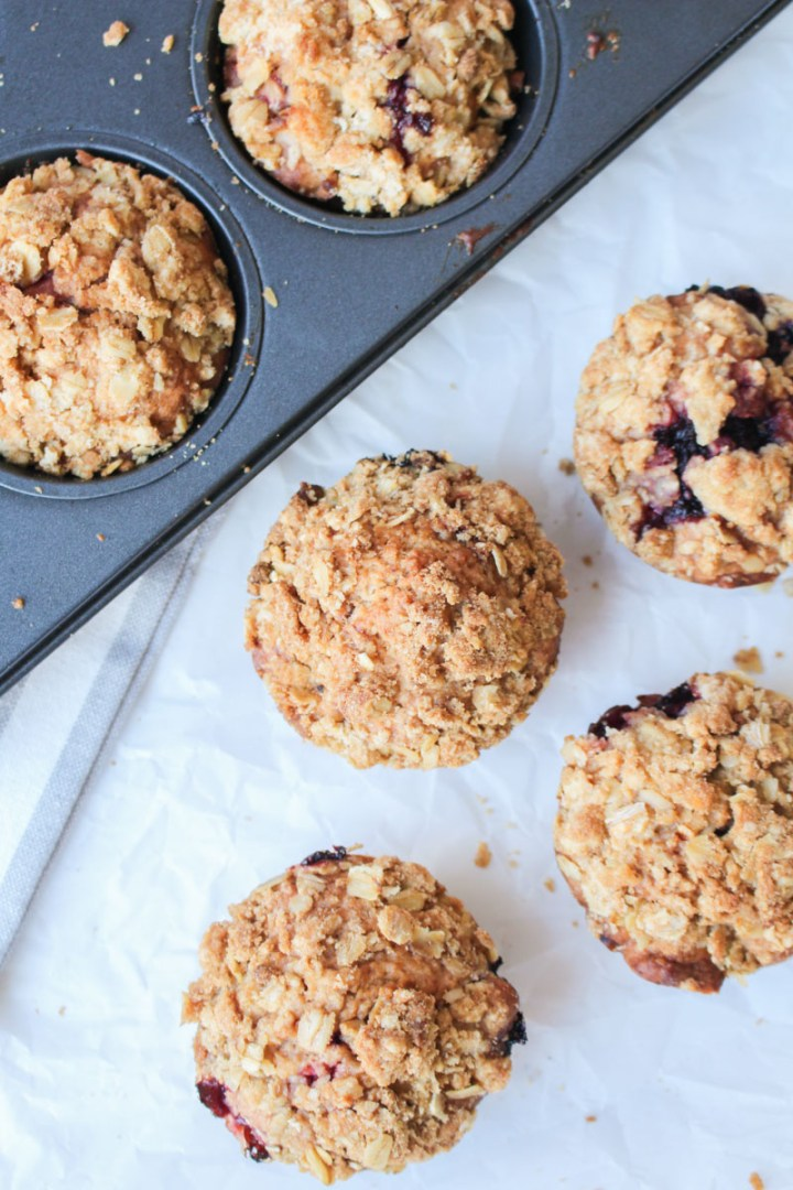 Blackberry Apple Crumble Muffins | What Charlotte Baked