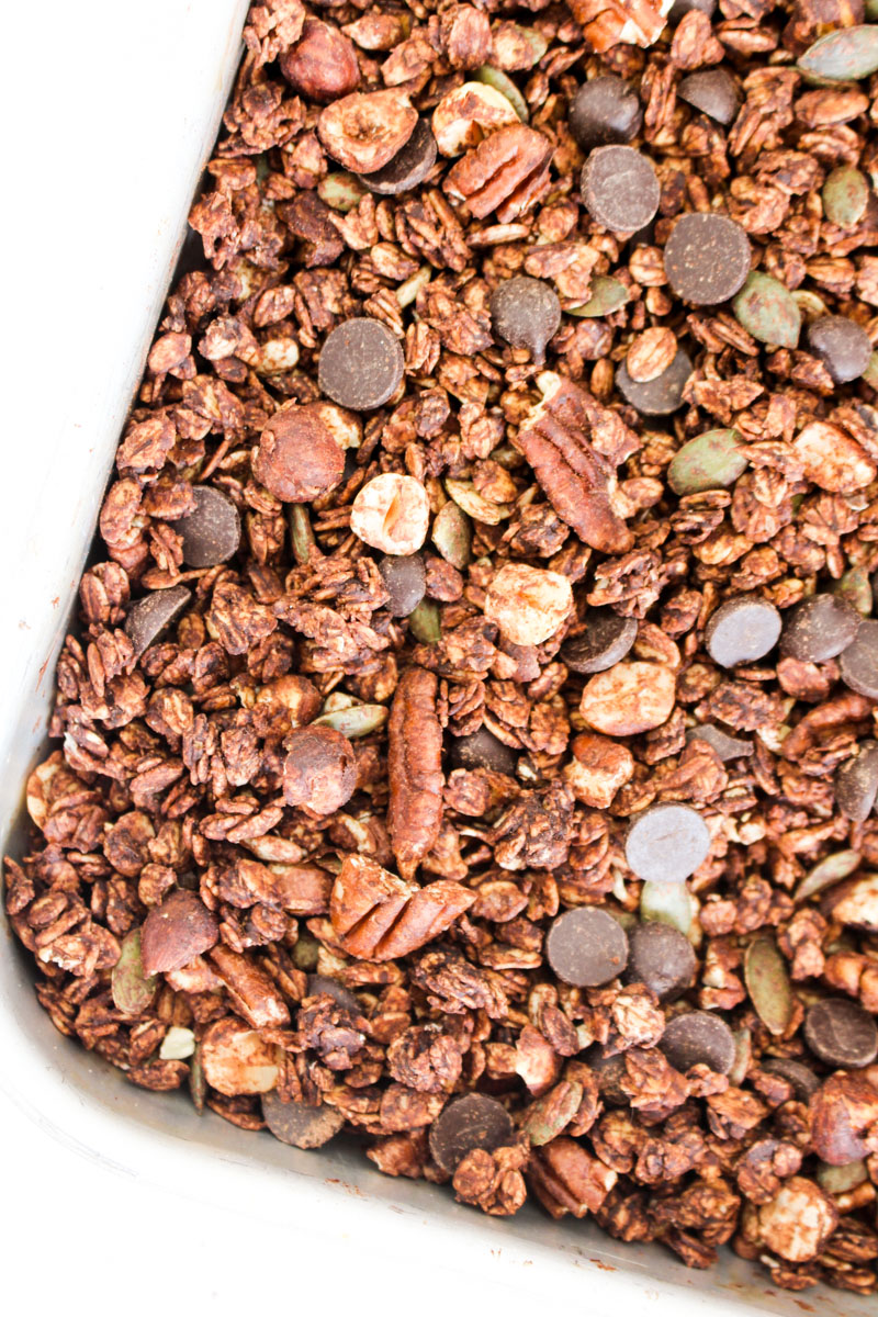 Intense Double Chocolate Granola | What Charlotte Baked