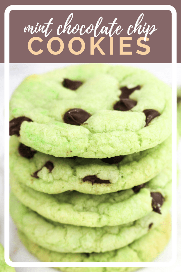 Mint Chocolate Chip Cookies recipe | What Charlotte Baked