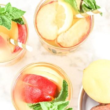 Peach Lemonade recipe | What Charlotte Baked